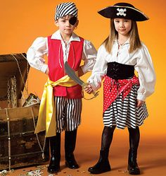 Homemade idea -- White shirt, red vest, gold sash, brown pants? Made a felt hat.