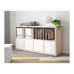 KALLAX Estantería - efecto roble tinte blanco - IKEA