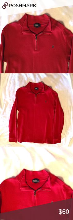 Ralph Lauren POLO Red Pullover Sweater Ralph Lauren POLO Red Pullover Sweater. Tag says 16-18 In Boys is the same as Men's XS/S Polo by Ralph Lauren Shirts & Tops Polos