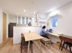 心や時間のゆとり、将来の夢も育む20代の共働き夫婦の住まい。 | ハウスメーカー クレバリーホーム - cleverlyhome - Home Office Design, House Design, Cafe Interior Design, Natural Interior, Japanese Interior, Japanese House, Home Organization, Living Room Designs, Ideal Home
