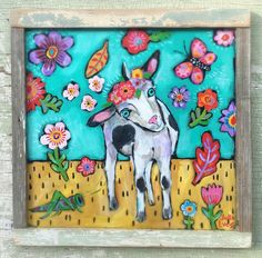 A personal favorite from my Etsy shop https://www.etsy.com/listing/530685714/folk-art-goat-painting-in-a-handmade