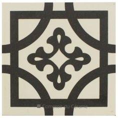 Carrelage imitation carreau ciment blanc 20 x 20 cm - BU0116002