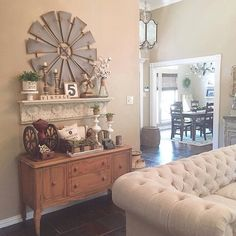 Love seeing our Windmill #WallDecor in the midst of Cindy's perfectly styled display here. Thanks for sharing! #decoratingideas