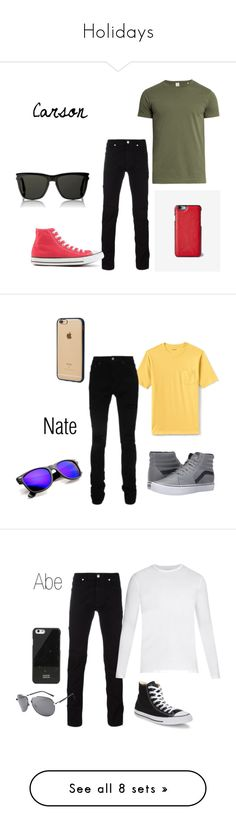 """""""Holidays"""" by narnialover on Polyvore featuring Sørensen, Versace, Converse, Express, Yves Saint Laurent, men's fashion, menswear, Lands' End, AMIRI and Vans"""