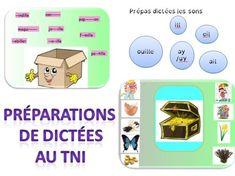préparation de dictées-exercices-TBI-TNI-sons-ail-ouil-eil