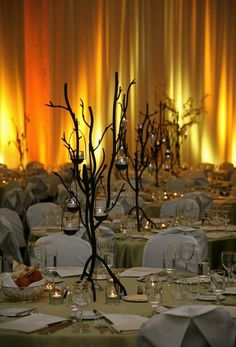 Description: Elegant fundraiser dinner Tags: wall wash fundraiser gala dinner ballroom decor curtain drape lighting 	uplight beam table seating candlelight party. View entire picture gallery Hollywood Lighting Services Inc ...