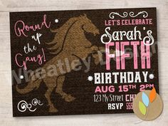 Purchase this digital file and print as many as you like from your home or professional printer. Get this invitation in a party package! 2