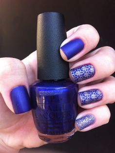 ***OPI - Tomorrow Never Dies + L'oreal - 136 Too Dimensional?*** Usei Top Coat fosco da HITS e a Plaquinha DRK-B.