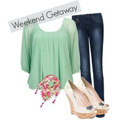 Weekend with the girls, created by prettysmartchic on Polyvore