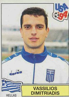 Vassilios Dimitriadis of Greece. 1994 World Cup Finals card.