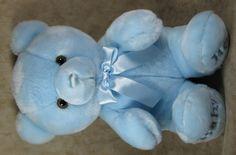 "Aurora Baby Large 20"" Long Plush Blue Boy Bear Stuffed Lovey Toy #Aurora"