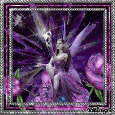 Purple Fantasy fairy