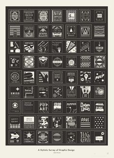 An Impressive Chart That Documents The Progression Of Graphic Design - DesignTAXI.com