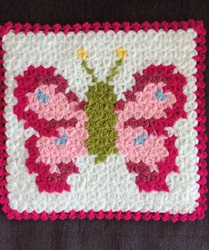 Crochet Butterfly, Crochet Blocks, Barbie, Fitness Inspiration, Flamingo, Hello Kitty, Stitch, Blanket, Crafts