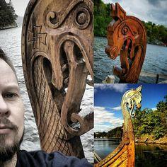 The longship Håkon Håkonsen at Bjørgvin viking market ⚡ #håkonhåkonsen #bjørgvinmarknad #bjørgvin #Bergen #hordamuseet #Hordaland #bjørgvin_vikingmarknad #Norse #Norway #Viking #Vikings #landofthevikings #longship #fjordúr #fjallað #skógur #haf