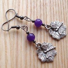 Charm Earrings  Dragonfly Jewelry  Unique Gift  by sweetpyroangel