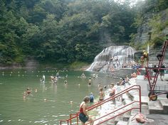 Swim and dive into the water bear the WATERFALLS at treman state park ithaca ny
