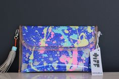 Mini Clutch by Tiff Manuell - Reality Check – Blue Scarlet