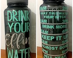 Drink your effing water bottle glitter water tracker