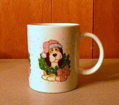 Vintage Christmas Dog Adorned with a Hat and Wreath Coffee Mug Merry Christmas http://www.amazon.com/dp/B00ZVRNKZO/ref=cm_sw_r_pi_dp_n8ttwb005CXVA