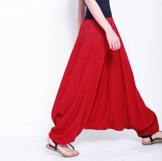 2016 Fashion women crotch pants,wide leg pants, plus size dancing sport pants ,pantskirt bloomers Harem casual trousers Plus Size Harem Pants, Dress Plus Size, Wide Leg Pants, Wide Legs, Loose Pants, Genie Pants, Pantalon Large, Linen Trousers, Trouser Suits