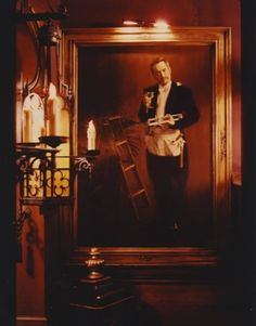 Ken Murray Magic! Milt Larsen Portrait Above the Stairway at The Academy of Magical Arts, Magic Castle!