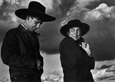 Georgia O'Keeffe and Orville Cox (her Ghost Ranch wrangler), Canyon de Chelly National Monument, Arizona, 1937. –Image by Ansel Adams