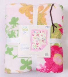 "No-Sew Throw Fleece Fabric 72""-Home Decor Floral Print"