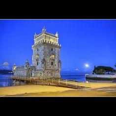 Full Moon by Belem Tower @ Lisbon - Portugal