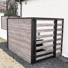Hide the AC Unit and trashcans! It's Need a screen for your hvac unit! Solid on one side and spaced gate for airflow and access. Hide any mechanical units… Air Conditioner Cover Outdoor, Air Conditioner Screen, Side Yard Landscaping, Backyard Patio, Backyard Ideas, Hide Ac Units, Ac Unit Cover, Ac Cover, Pool Equipment Cover