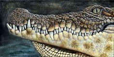 Crocodile painting by Nathan Ledyard Art