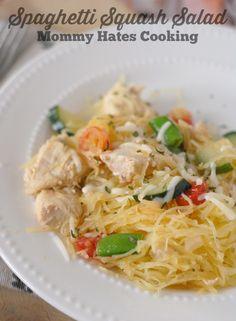 Spaghetti Squash Salad I Mommy Hates Cooking