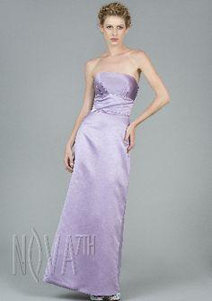 sheath/column strapless satin evening party dress