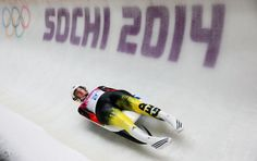 Natalie Geisenberger of Germany in action during the Women's Luge Singles on Day 4 of the Sochi 2014 Winter Olympics at Sliding Center Sanki (c) Getty Images Luge, Wide World, World Of Sports, Winter Olympics, Olympic Games, Germany, Action