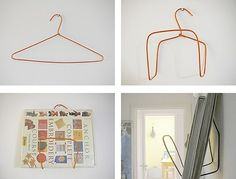 How To: Make A Book Rack From A Wire Hanger.