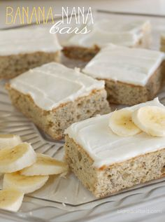 Banana cake bars