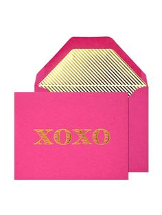 Show you care with a handwritten note on stylish XOXO notecards.