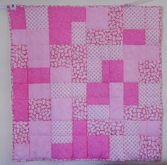 05-03-13 Simple little pink and white baby quilt.