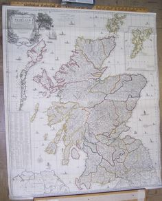 A New and Complete Map of Scotland, And Islands Thereto Belonging;, Handsome Large Wall Map of Scotland 1779, Robert Sayer (Published: 1779. London)  Spectacular wall map of 18th Century Scotland.