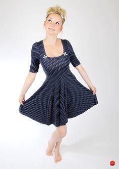 Gepunktetes Sommerkleid im 60er Jahre Stil, Petticoat / summer dress with polka dots in 60s style, petticoat made by meko via DaWanda.com