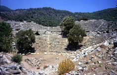 Antic theater in Kaunos-Caria-Dalyan 546 BC
