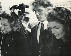 Jacqueline Bouvier Kennedy heading to the funeral of her husband, President John F. Kennedy