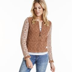 on the edge cardigan TOFFEE