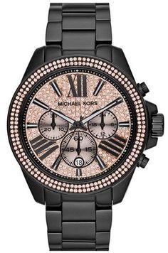 MICHAEL Michael Kors Michael Kors 'Wren' Pavé Dial Chronograph Bracelet Watch