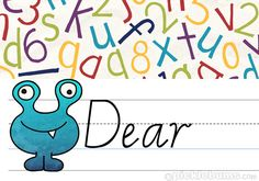 A great follow-up activity to reading A Monster Wrote Me a Letter by Nick Bland:  Free Printable Kids Letter Writing Set - send a monstrous note! :) from @katepickle
