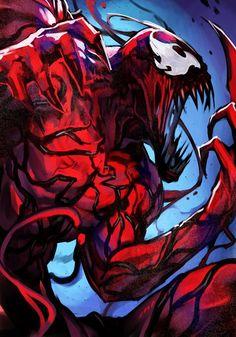 Spiderman Venom, Spiderman Art, Amazing Spiderman, Spiderman Suits, Marvel Art, Marvel Dc Comics, Marvel Heroes, Demon Drawings, Marvel Drawings