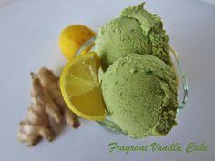Raw Green Tea Lemon Ginger Ice Cream @FragrantVanillaCake