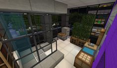 Minecraft interior design bathroom