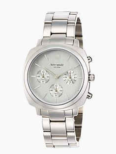 Kate Spade watch - silver with silver face Functional, stylish, simple.   No extra bling!   Perfect.
