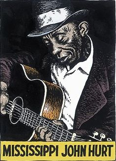 R. Crumb made a series of card about Mississippi Delta blues artists, like one of my favorites, Mississippi John Hurt. He must be a huge fan to do so much research and work on each card.  The country music cards are great too.